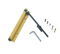 Aluminum alloy single spring door closer